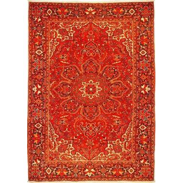 "Authentic Persian Rug heriz Traditional Style Hand-Knotted Indoor Area Rug with Natural Wool and Cotton  11'7""  X  8'2"" ABCR02582"