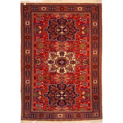 "Authentic Persian Rug ardabil Traditional Style Hand-Knotted Indoor Area Rug with Natural Wool and Cotton  10'4""  X  7'1"" ABCR02483"