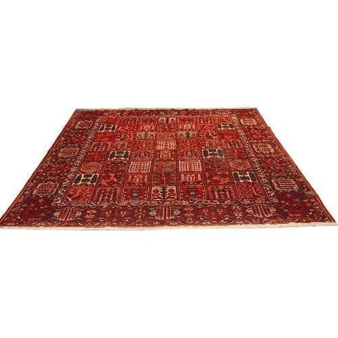 "Authentic Persian Rug bakhtiar Traditional Style Hand-Knotted Indoor Area Rug with Natural Wool and Cotton  12'5""  X  11'1"" ABCR02771"