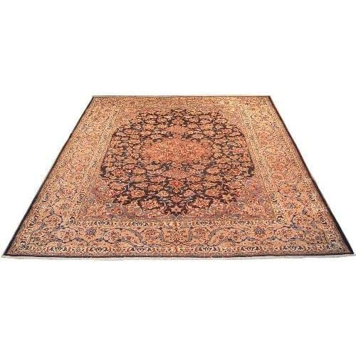 "Authentic Persian Rug najafabad Traditional Style Hand-Knotted Indoor Area Rug with Natural Wool and Cotton  13'1""  X  9'11"" ABCR02199"