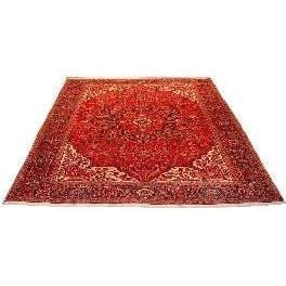 "Authentic Persian Rug heriz Traditional Style Hand-Knotted Indoor Area Rug with Natural Wool and Cotton  12'6""  X  9'10"" ABCR02585"