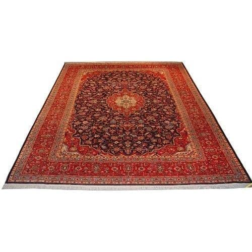 "Authentic Persian Rug kashan Traditional Style Hand-Knotted Indoor Area Rug with Natural Wool and Cotton  14'0""  X  9'8"" ABCR02744"
