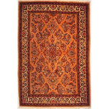 "Authentic Persian Rug sarough Traditional Style Hand-Knotted Indoor Area Rug with Natural Wool and Cotton  6'10""  X  4'7"" ABCR02430"