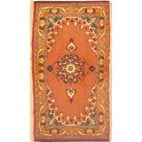 "Authentic Persian Rug turkaman Traditional Style Hand-Knotted Indoor Area Rug with Natural Wool and Cotton  2'11""  X  1'7"" ABCR02946"