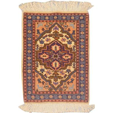 "Authentic Persian Rug ardabil Traditional Style Hand-Knotted Indoor Area Rug with Natural Wool and Cotton  1'9""  X  1'3"" ABCR02232"