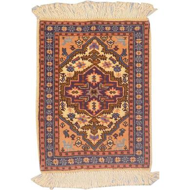 "Authentic Persian Rug ardabil Traditional Style Hand-Knotted Indoor Area Rug with Natural Wool and Cotton  1'9""  X  1'3"" ABCR02238"