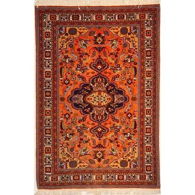 "Authentic Persian Rug ardabil Traditional Style Hand-Knotted Indoor Area Rug with Natural Wool and Cotton   6'6""  X  4'3"" ABCR02930"