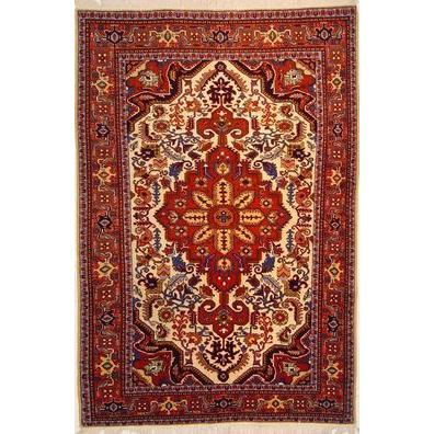 "Authentic Persian Rug ardabil Traditional Style Hand-Knotted Indoor Area Rug with Natural Wool and Cotton  6'6""  X  4'7"" ABCR02527"