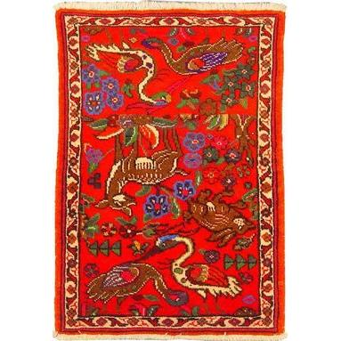 "Authentic Persian Rug museel Traditional Style Hand-Knotted Indoor Area Rug with Natural Wool and Cotton   3'4""  X  2'3"" ABCR02437"