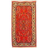 "Authentic Persian Rug sarough Traditional Style Hand-Knotted Indoor Area Rug with Natural Wool and Cotton  3'11""  X  2'2"" ABCR02435"