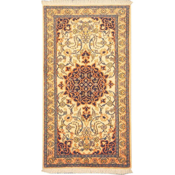 "Authentic Persian Rug nain Traditional Style Hand-Knotted Indoor Area Rug with Natural Wool and Cotton  4'3""  X  2'3"" ABCR02866"
