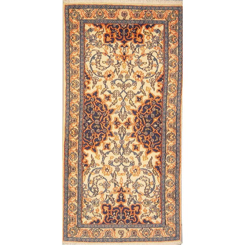 "Authentic Persian Rug nain Traditional Style Hand-Knotted Indoor Area Rug with Natural Wool and Cotton  4'6""  X  2'3"" ABCR02861"