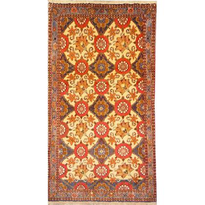"Authentic Persian Rug varamin Traditional Style Hand-Knotted Indoor Area Rug with Natural Wool and Cotton  5'3""  X  2'8"" ABCR02139"