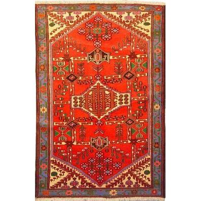 "Authentic Persian Rug saveh Traditional Style Hand-Knotted Indoor Area Rug with Natural Wool and Cotton  5'4""  X  3'7"" ABCR02570"