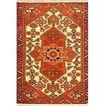 "Authentic Persian Rug saveh Traditional Style Hand-Knotted Indoor Area Rug with Natural Wool and Cotton  4'11""  X  3'3"" ABCR02172"