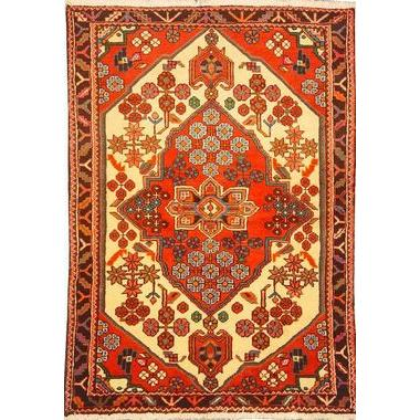 "Authentic Persian Rug saveh Traditional Style Hand-Knotted Indoor Area Rug with Natural Wool and Cotton  5'2""  X  3'3"" ABCR02571"