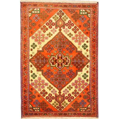 "Authentic Persian Rug saveh Traditional Style Hand-Knotted Indoor Area Rug with Natural Wool and Cotton   5'1""  X  3'5"" ABCR02193"