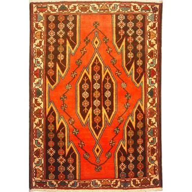 "Authentic Persian Rug saveh Traditional Style Hand-Knotted Indoor Area Rug with Natural Wool and Cotton  5'1""  X  3'7"" ABCR02192"