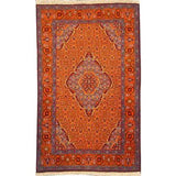 "Authentic Persian Rug tabriz Traditional Style Hand-Knotted Indoor Area Rug with Natural Wool and Cotton  5'4""  X  3'3"" ABCR02534"