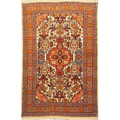"Authentic Persian Rug ardabil Traditional Style Hand-Knotted Indoor Area Rug with Natural Wool and Cotton  4'11""  X  3'1"" ABCR02095"