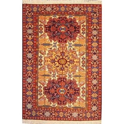 "Authentic Persian Rug ardabil Traditional Style Hand-Knotted Indoor Area Rug with Natural Wool and Cotton  5'2""  X  3'7"" ABCR02111"