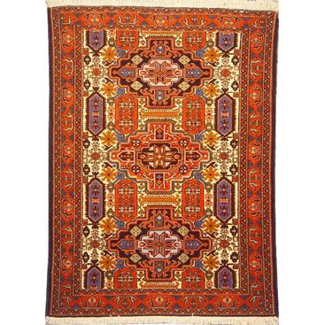 "Authentic Persian Rug ardabil Traditional Style Hand-Knotted Indoor Area Rug with Natural Wool and Cotton   5'1""  X  3'7"" ABCR02104"