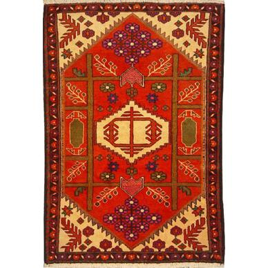 "Authentic Persian Rug saveh Traditional Style Hand-Knotted Indoor Area Rug with Natural Wool and Cotton  5'1""  X  3'5"" ABCR02173"