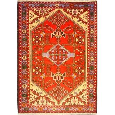 "Authentic Persian Rug saveh Traditional Style Hand-Knotted Indoor Area Rug with Natural Wool and Cotton  5'2""  X  3'9"" ABCR02565"