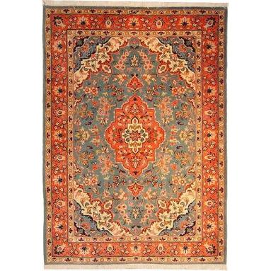 "Authentic Persian Rug yazd Traditional Style Hand-Knotted Indoor Area Rug with Natural Wool and Cotton  6'0""  X  4'3"" ABCR02460"