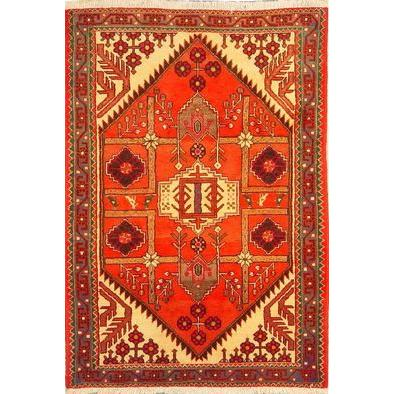 "Authentic Persian Rug saveh Traditional Style Hand-Knotted Indoor Area Rug with Natural Wool and Cotton  5'1""  X  3'5"" ABCR02197"