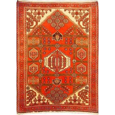 "Authentic Persian Rug saveh Traditional Style Hand-Knotted Indoor Area Rug with Natural Wool and Cotton  4'7""  X  3'5"" ABCR02453"