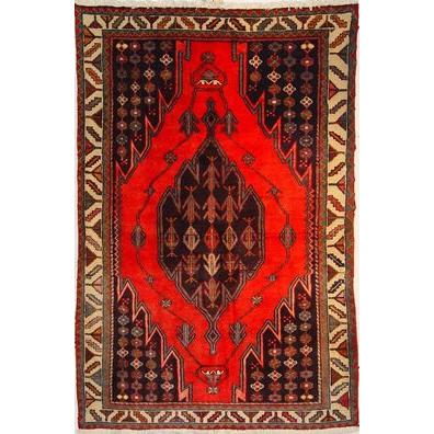 "Authentic Persian Rug saveh Traditional Style Hand-Knotted Indoor Area Rug with Natural Wool and Cotton  6'4""  X  4'3"" ABCR02539"