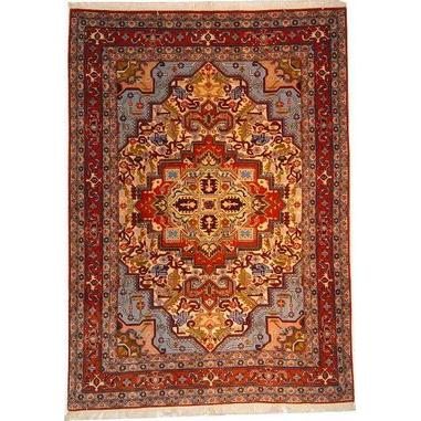 "Authentic Persian Rug ardabil Traditional Style Hand-Knotted Indoor Area Rug with Natural Wool and Cotton  6'2""  X  4'5"" ABCR02526"