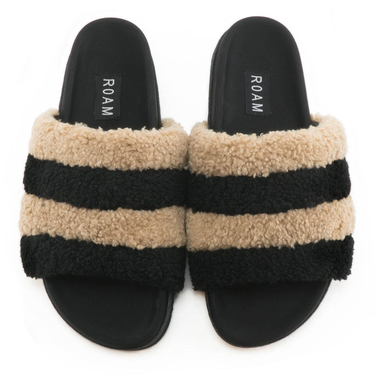 BEIGE & BLACK PRISM SLIPPERS PRE ORDER AVAILABLE NOW . WILL BE SHIPPING FIRST WEEK OF DECEMBER