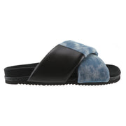 DENIM SHIBORI CLOUD WASH CROSS SANDAL