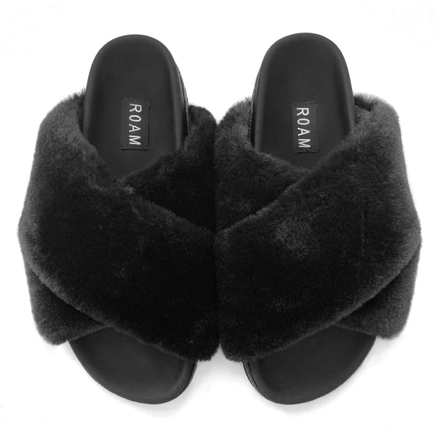 PUPPY BLACK SLIPPERS