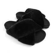 MINI-CLOUD BLACK SLIPPERS