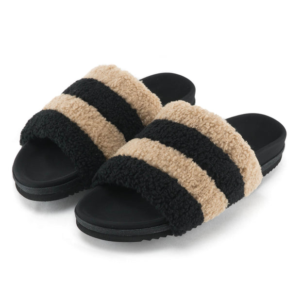 BEIGE & BLACK PRISM SLIPPERS pre order available