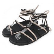 BEIGE & BLACK ROPE SANDALS