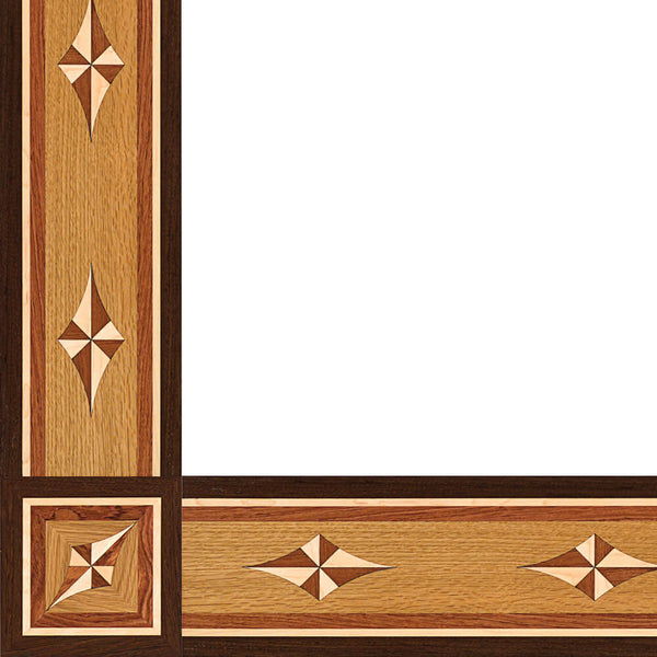 Oshkosh Designs Rosetta Wood Border