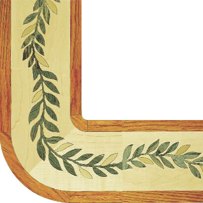 Oshkosh Designs Serpentine Wood Border