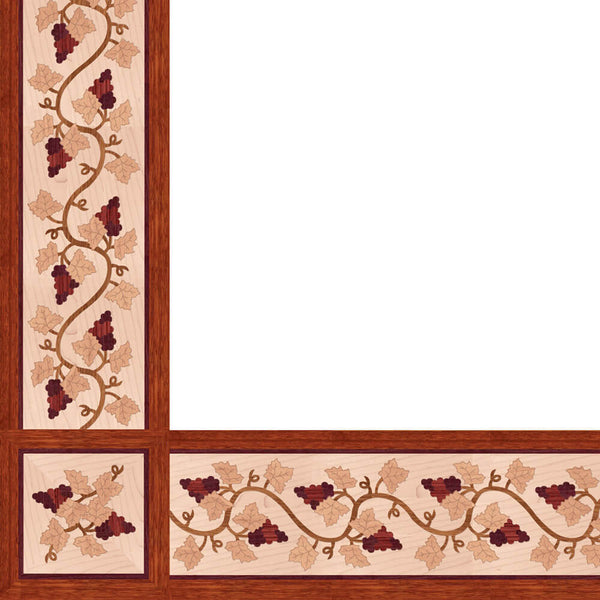 Oshkosh Designs Shiraz Wood Border