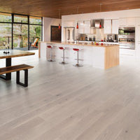 Mirage Herringbone Collection White Oak Snowdrift Character Brushed