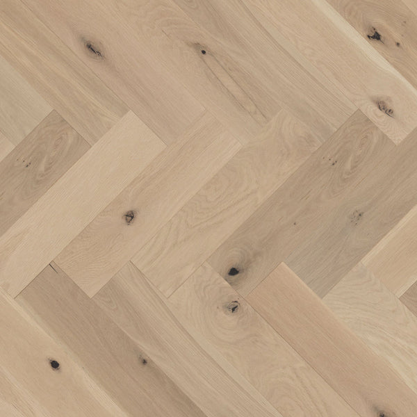 Mirage Herringbone Collection White Oak White Mist Character Brushed