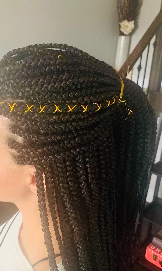 Medium Box Braids (Mid-back Length) by Shanel