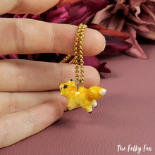 Load image into Gallery viewer, Amber Fox Necklace in Ceramic - The Folky Fox