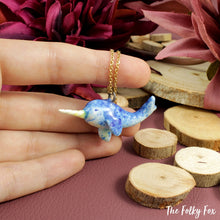 Load image into Gallery viewer, Narwhal Necklace in Ceramic - The Folky Fox