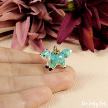 Load image into Gallery viewer, Mint Green Fox necklace in Ceramic - The Folky Fox