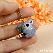 Load image into Gallery viewer, Koala Necklace in Polymer Clay - The Folky Fox