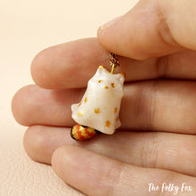 Load image into Gallery viewer, Ghost Red Panda Necklace in Polymer Clay - The Folky Fox